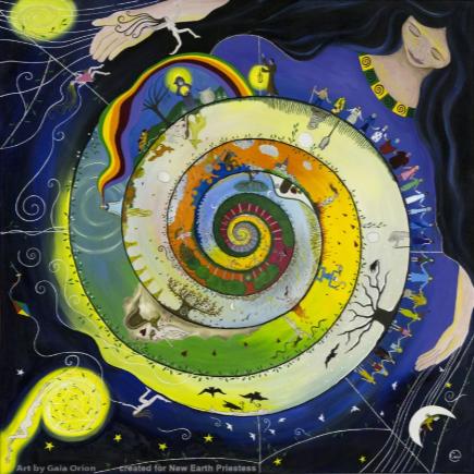 Imagen: Gaia Orion. Weaving her journey