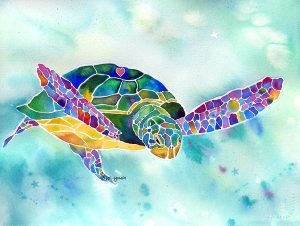 Sea Weed, Sea Turtle de Jo Lynch