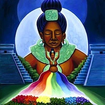 """Imagen: """"La Diosa Maya de la Luna Maya Ix Chel"""" de Katherine Skaggs"""