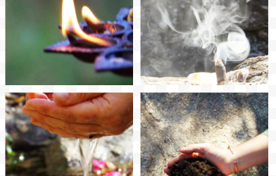 The medicine of the four elements