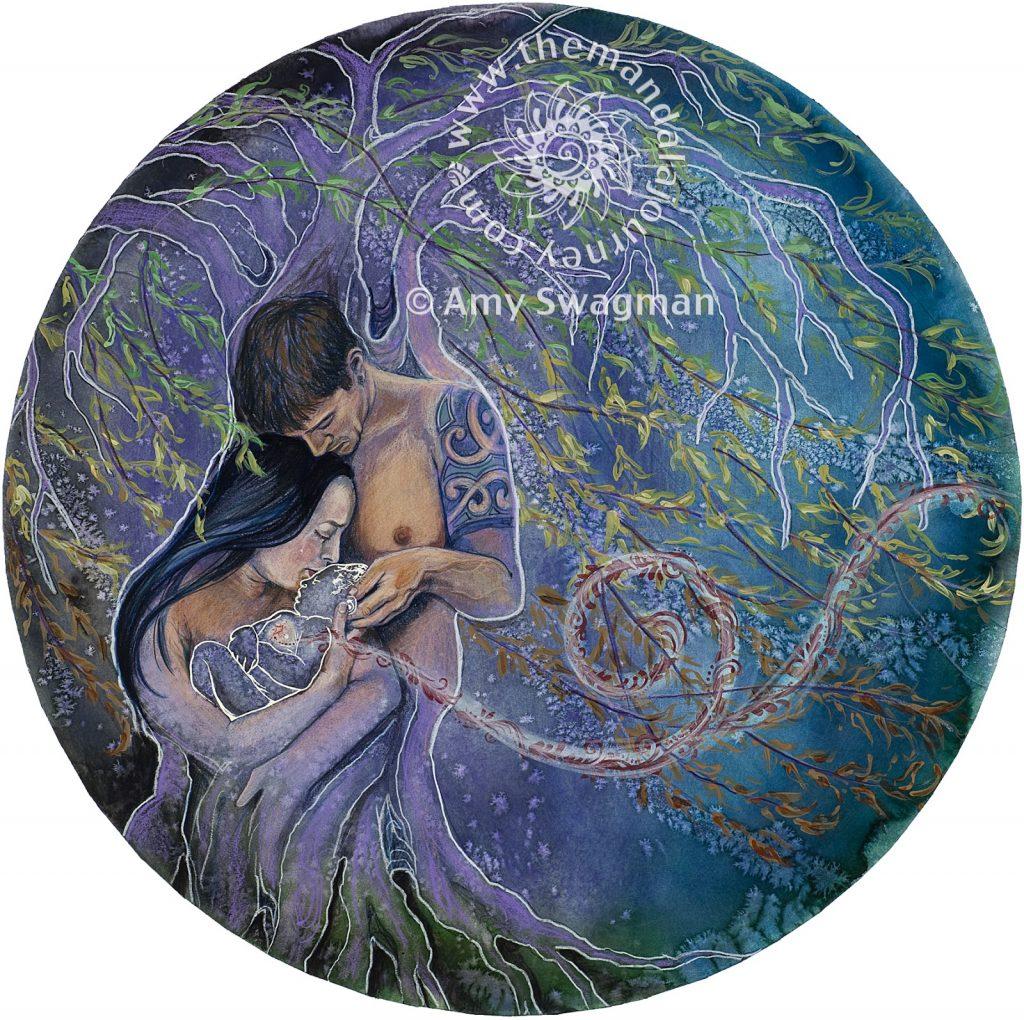 """Ilustración de Amy Swagman, """"Efímero y Eterno"""""""