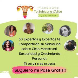 """Cartel Congreso virtual """"Tu sabiduría cíclica y sus dones"""""""