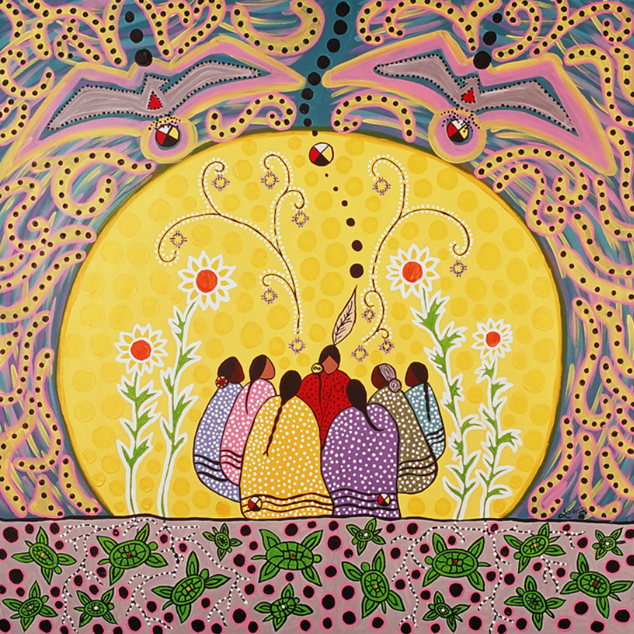 Talking Circle Medicine (2005) Leah Dorion