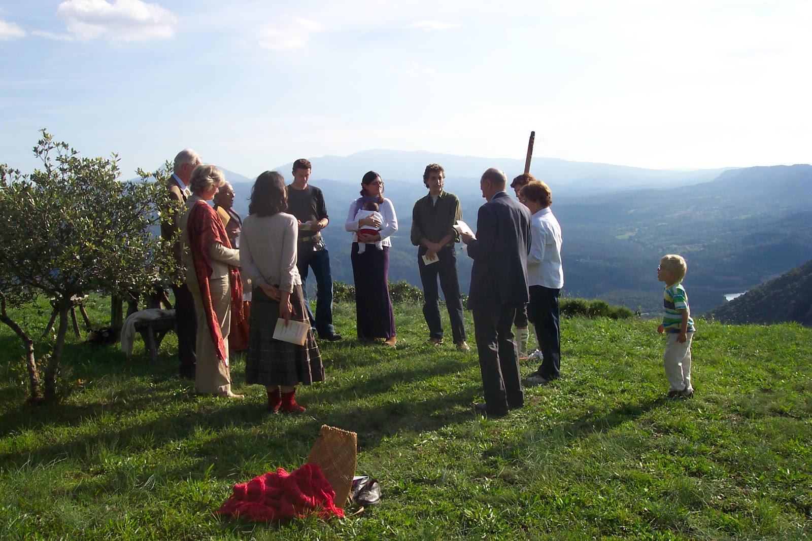 Ceremonia de bienvenida de mi hijo Marc. Foto: Anna Bayó