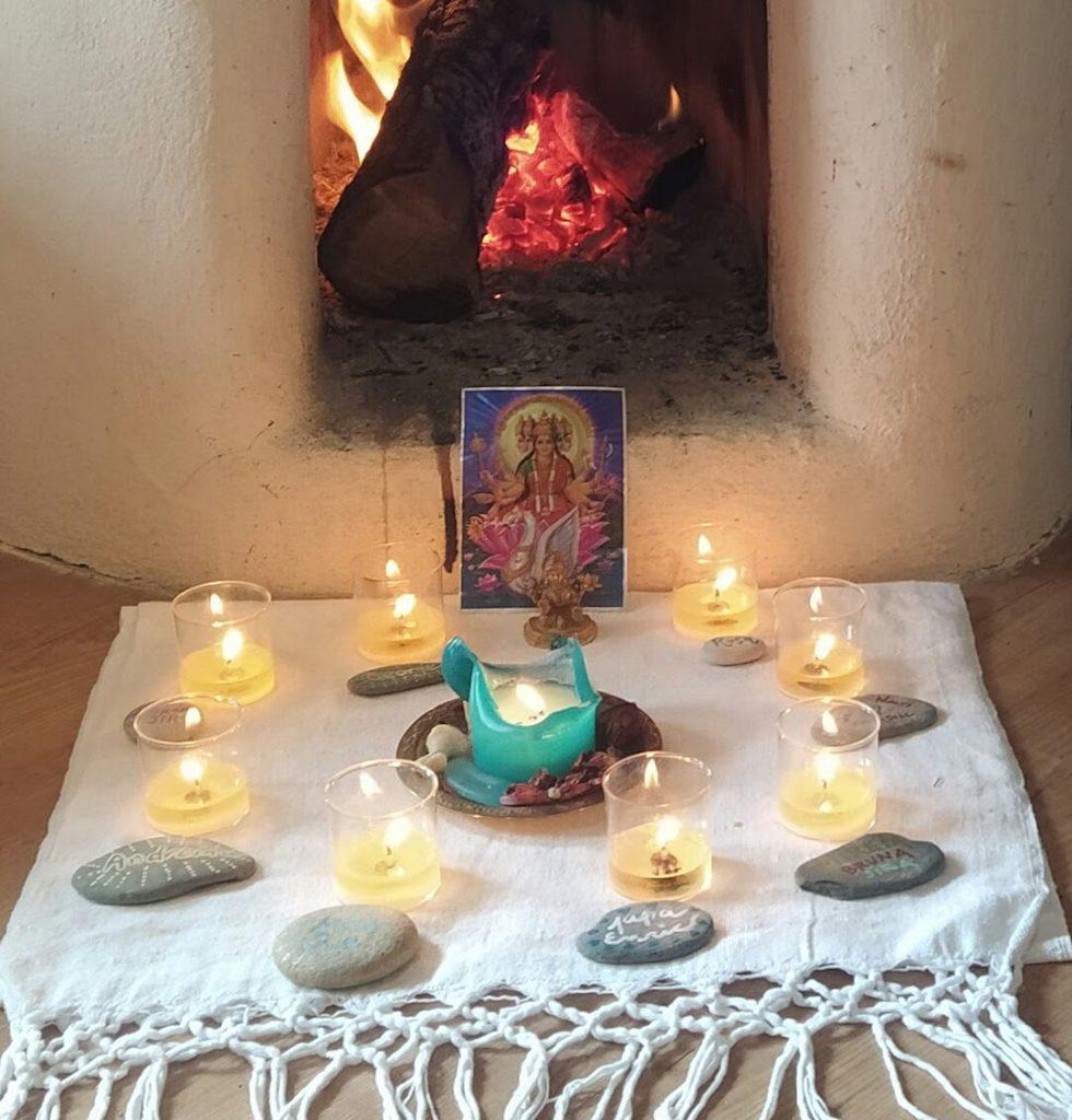 altar del ritual para honrar a nuestros muertos