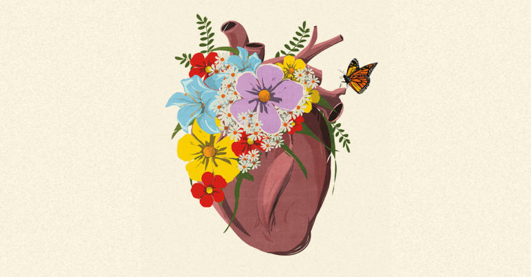 Flores que brotan del corazón. Andrea Ucini